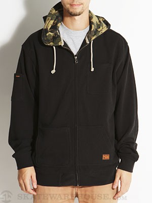 Volcom Borris Custom Lined Hoodzip Black SM