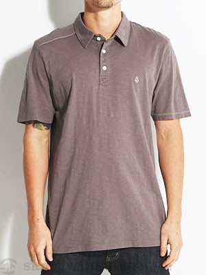 Volcom Blackout Mix Polo Shirt Pewter/PEW MD