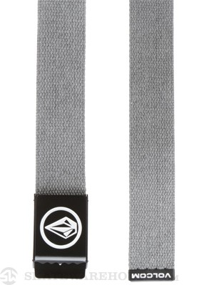 Volcom Circle Web Belt Charcoal Adjustable