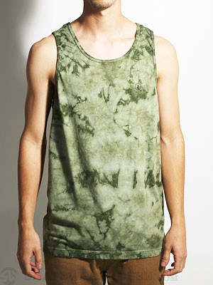 Volcom Crystal Wash Tank Top Faded Army/FDR SM
