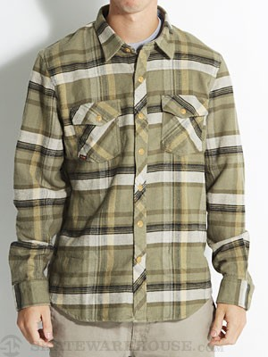 Volcom Dermot L/S Flannel Shirt Army/ARM MD