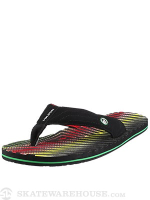 Volcom Fraction Sandals Rasta/RAT