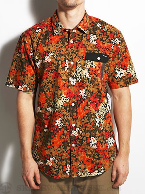 Volcom Flower Power Woven Shirt Orange/PAY SM