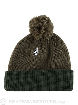 Volcom Full Stone Pom Beanie Fatigue/FTG