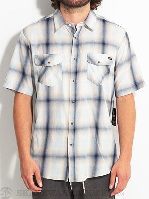 Volcom Fazed Out Woven Shirt Blue MD