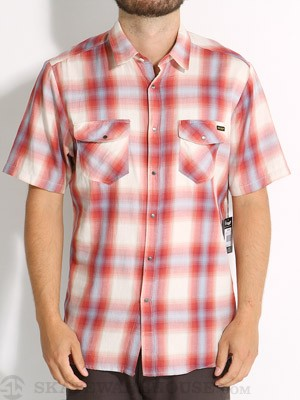 Volcom Fazed Out Woven Shirt Red SM