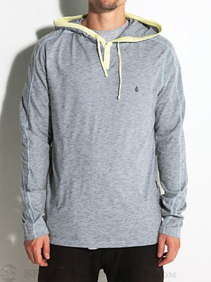 Volcom Hock Hooded Henley Shirt Lt Blue/LBL MD