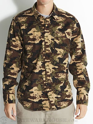 Volcom Harry L/S Flannel Shirt Military/MIL SM
