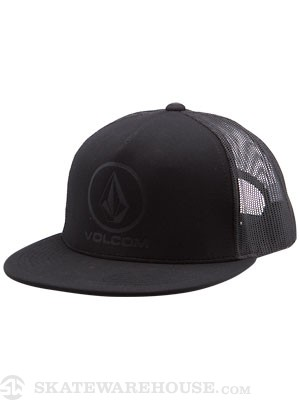 Volcom Loyal Dog Mesh Hat Black Adj.