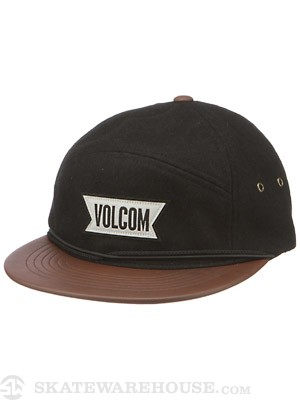 Volcom Lurker Lid 5 Panel Hat Tinted Black Adj.