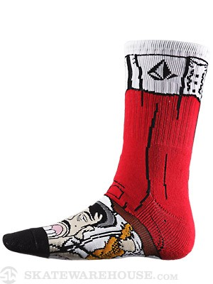 Volcom Los Volcomes Puppet Socks Red