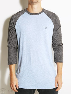 Volcom Mock Twist Raglan Tee Blue Heather XL