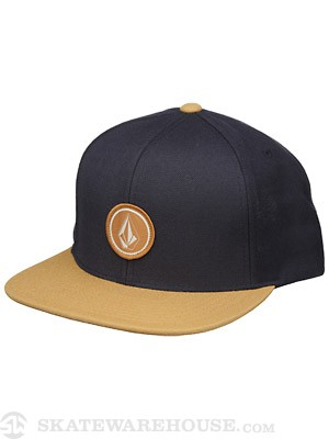 Volcom Quarter Snapback Hat Blue Black Adjust
