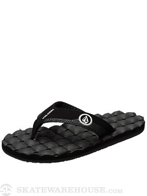 Volcom Recliner RCF Sandals  Black/White/BWH