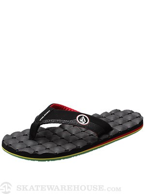 Volcom Recliner Creedler Sandals  Rasta