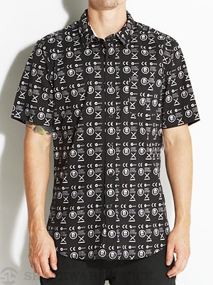Volcom Skullphone S/S Woven Shirt Black MD