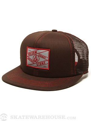 Volcom Square Patch Mesh Hat Brown/BRN Adj.