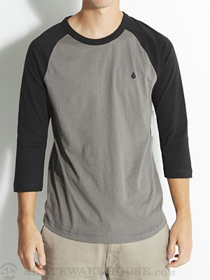 Volcom Stone 3/4 Sleeve Raglan Shirt Black MD