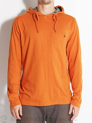 Volcom Stone Hooded LS Shirt Burnt Sienna/BRT SM