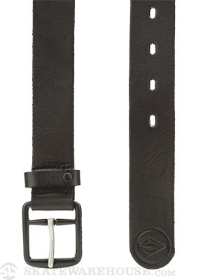 Volcom Thrift Leather Belt Black/TIB 34