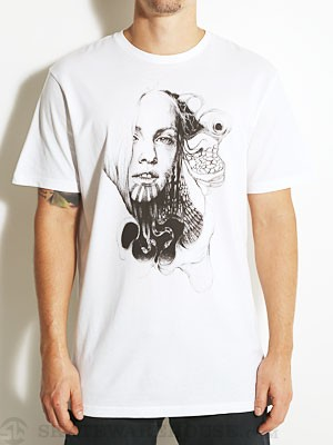 Volcom Tobacco And Leather Lady Tee White SM