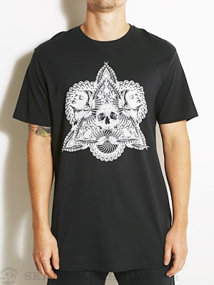 Volcom Tobacco And Leather Skull Tee Black MD
