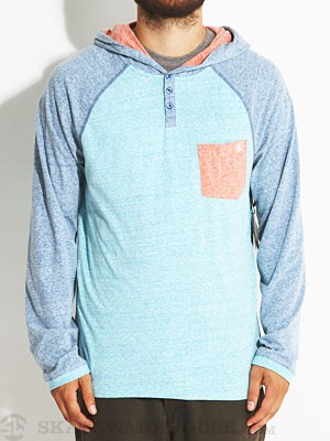 Volcom Tempest Hooded Henley Blue/BDR XL