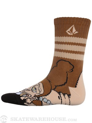 Volcom Tune Puppet Socks Brown/BRN