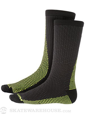 Volcom Track Stripe Socks Black