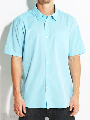 Why Factor End On S/S Woven Shirt Blue/BDR LG