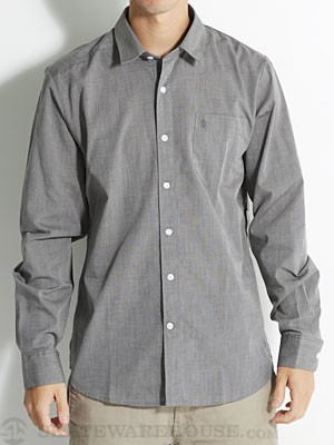 Why Factor End On End L/S Woven Shirt Charcoal SM