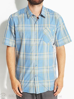 Why Factor Plaid S/S Woven Shirt Blue/FRB SM