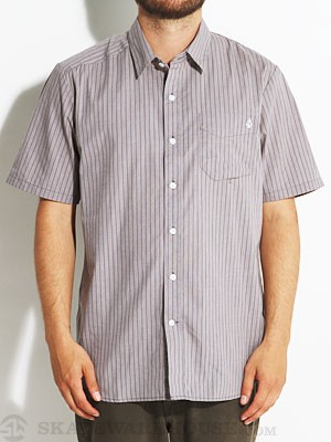 Why Factor Stripe S/S Woven Shirt Pewter/PEW MD