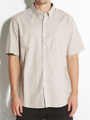 Why Factor Oxford S/S Woven Shirt Stone/STN XXL