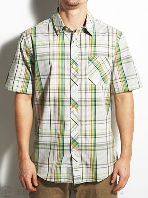 Volcom Weirdoh Plaid S/S Woven Shirt Evergreen SM
