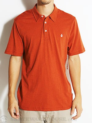 Volcom Wowzer Polo Shirt Auburn Heather/AUB SM