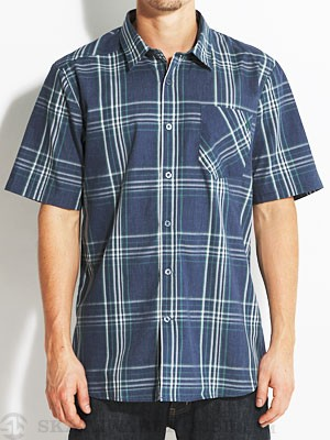 Volcom Why Factor Plaid S/S Woven Navy/NVP SM