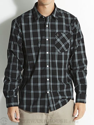 Why Factor Plaid L/S Woven Shirt Black SM