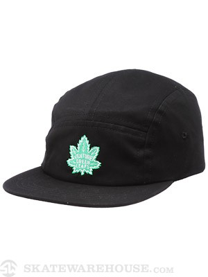 Venture Green Leaf 5 Panel Hat Black Adjust