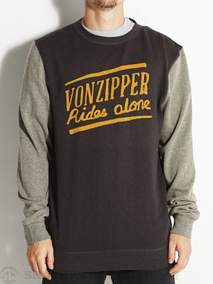 Von Zipper Legend Crew Sweatshirt Black MD