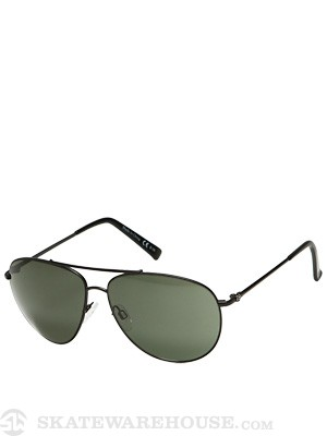 Von Zipper Wingding Black Satin w/Grey Lens