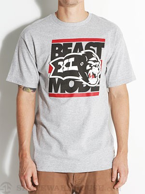 X-Large Beast Mode Tee Athletic Heather MD