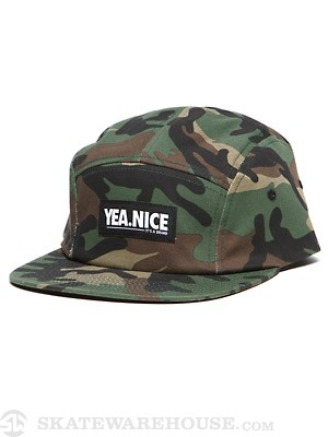 Yea.Nice Camo'd 5 Panel Camp Hat Camo