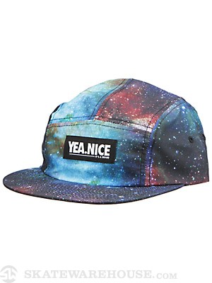 Yea.Nice Galaxy 5 Panel Camp Hat Blue Adjust