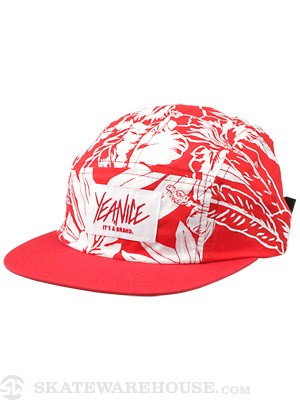 Yea.Nice Leisure 5 Panel Camp Hat Red