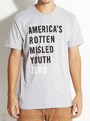 Zero Rotten Youth Tee Heather Grey SM
